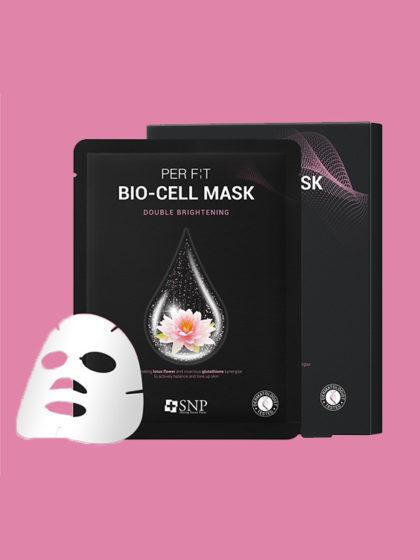 SNP PER FIT BIO-CELL MASK DOUBLE BRIGHTENING 25ML, 1EA