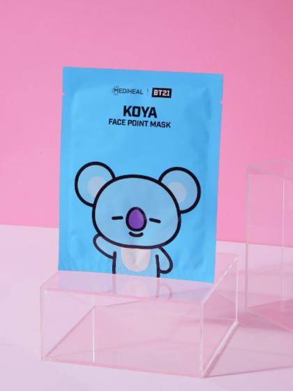 skincare-kbeauty-glowtime-Mediheal BT21 Koya Face Point Mask