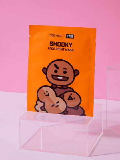 skincare-kbeauty-glowtime-Mediheal BT21 Shooky Face Point mask