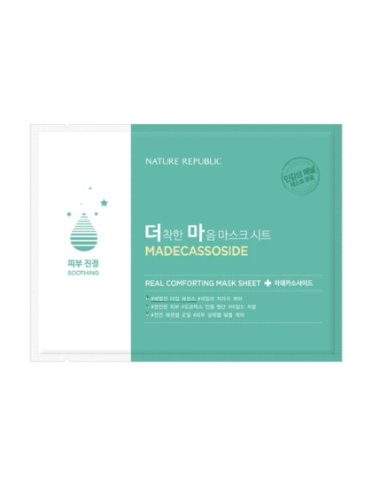 skincare-keabuty-glowtime-Nature Republic Real Comforting Sheet Mask Madecassoside Soothing