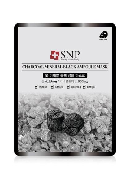 skincare-kebauty-glowtime-SNP Charcoal Black Mineral Ampoule Mask