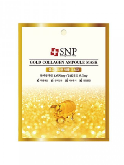 skincare-kbeauty-glowtime-SNP Gold Collagen Ampoule Maskn