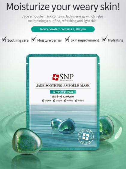 skincare-glowtime-kbeauty-SNP Jade Soothing Ampoule Mask