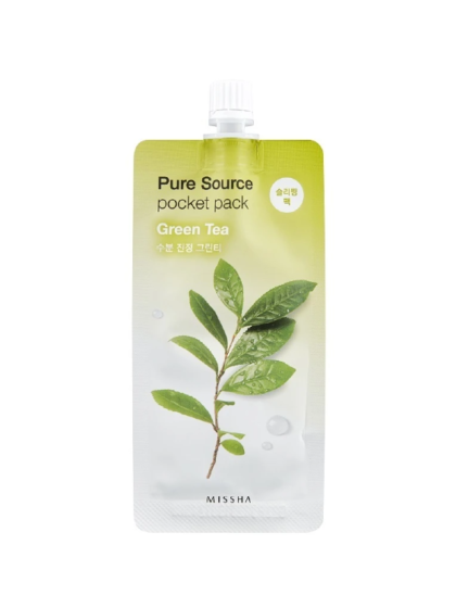 skincare-kbeauty-glowtime-Missha Pure Source Pocket Pack Green Tea