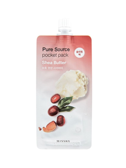 skincare-kbeauty-glowtime-Missha Pure Source Pocket Pack Shea Butter