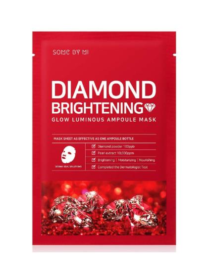 skincare-=kbeauty-glowtime-Some By Mi Diamond Brightening GLow Luminous Ampoule Mask