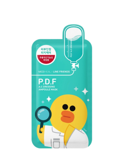 skincare-kbeauty-glowtime-Mediheal Line Friends PDF AC Dressing Ampoule Mask