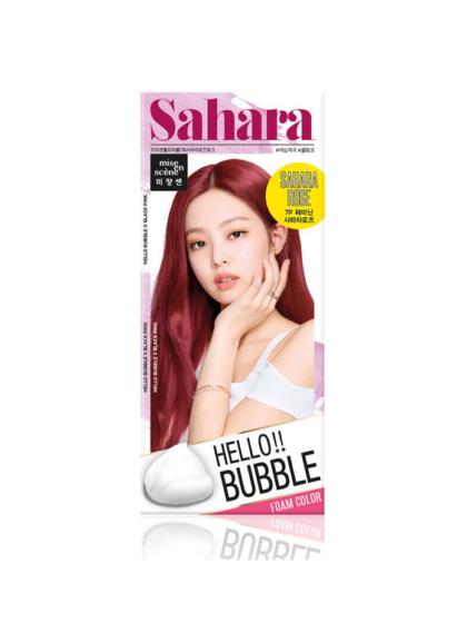 skincare-kbeauty-glowtime-Mise en Scene hello Bubble Sahara Rose Black Pink Jenny