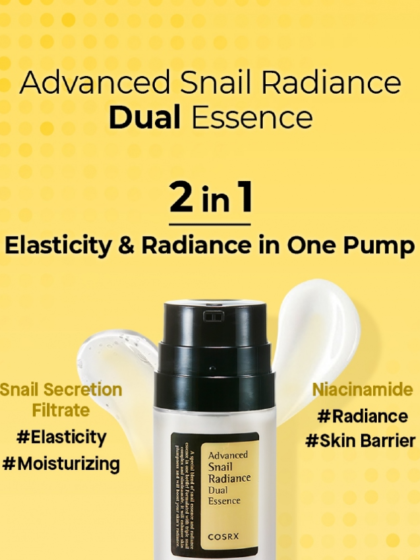skincare-kbeauty-glowtime-COSRX Advanced Snail Radiance Dual Essence